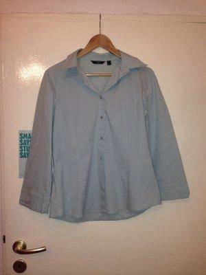 hellblaue Bluse, hellblaues Hemd, klassisch, Gr. L (40/ 42), von Mango