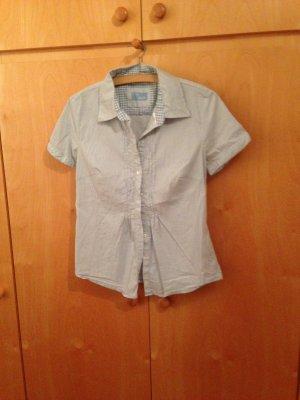 Hellblaue Bluse im Knitterlook von Street One