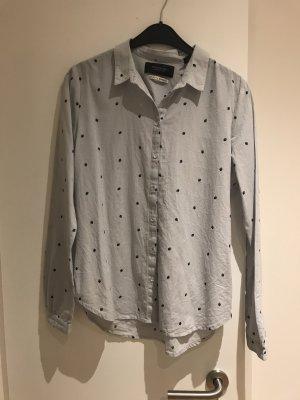 Maison Scotch Blusa-camisa azul pálido-azul celeste Algodón