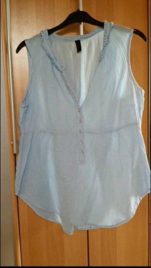 Hellblaue Bluse Vero Moda
