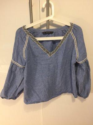 Zara Blouse multicolore coton
