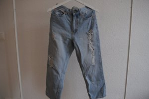 Hellblaue Cheap Monday Jeans / Used-Look / High-Waist