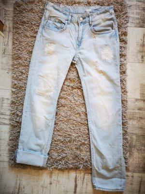 H&M Boyfriend jeans lichtblauw Katoen