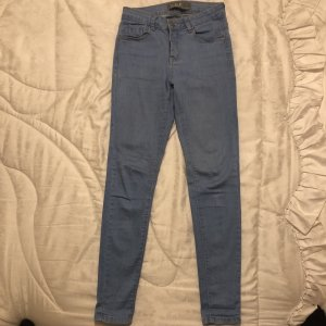 0039 Italy Hoge taille jeans azuur
