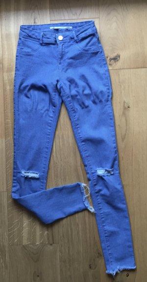 Hellblaue Highwaist Röhrenjeans von Zara