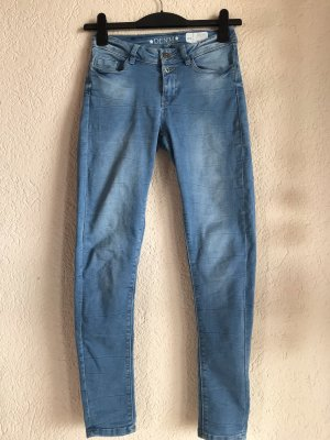Pantalon taille haute bleu azur