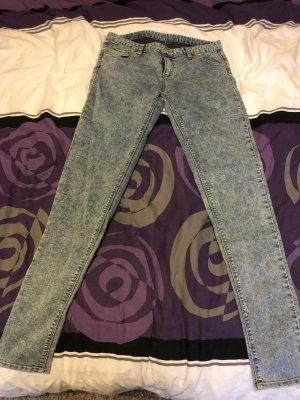 Tube Jeans white-light blue