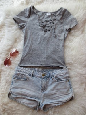 Hellblaue Jeans Hotpants in 34