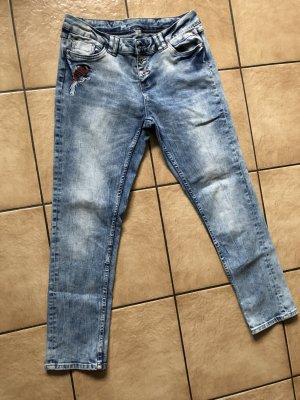 hellblaue Jeans mit Stickerei von Takko Denim 1982 - W29