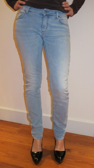 Hellblaue Jeans Used Look