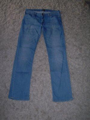 hellblaue Jeans von Lee W32 L33 Gr. XL 42 gerades Bein