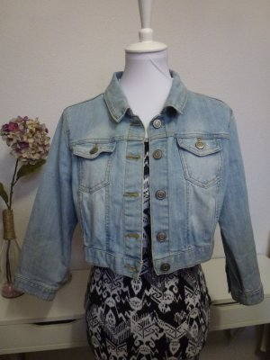 Hellblaue Jeansjacke 3/4 Arm in Gr. 40