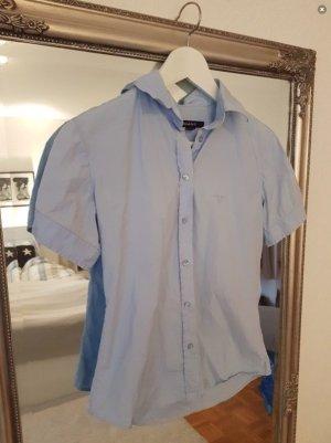 Hellblaue kurzärmelige Bluse von Gant, 36