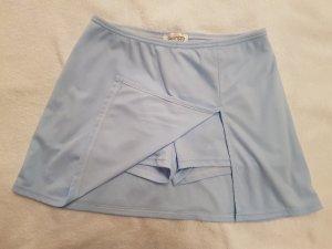 Hellblaue kurze Sporthose Shorts Fitness mit Rock Hosenrock  Pimkie Gr. 38