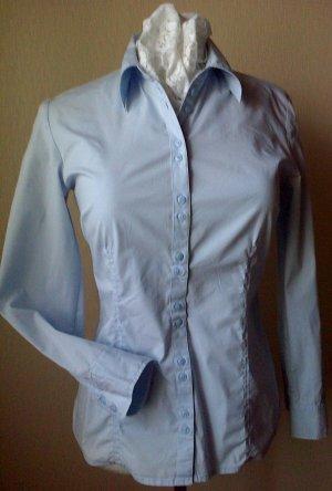 Hellblaue Langarm-Bluse von s.Oliver in 42 (Baumwolle)