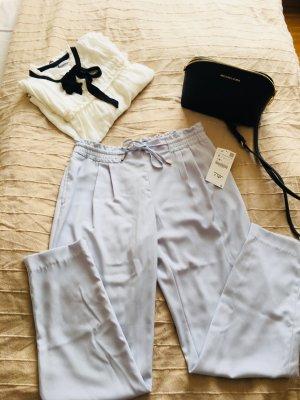 Zara Pantalon en jersey bleu azur