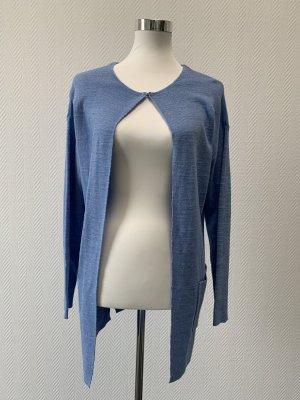Passport Manteau en tricot bleu azur coton
