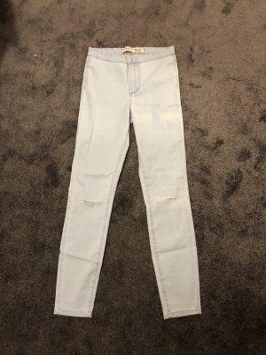 Primark Drainpipe Trousers pale blue