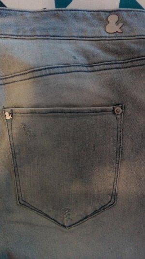 Hellblaue Skinny Jeans, Ankel, 33, H&M Denim