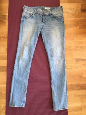 Hellblaue skinny Jeans von H&M