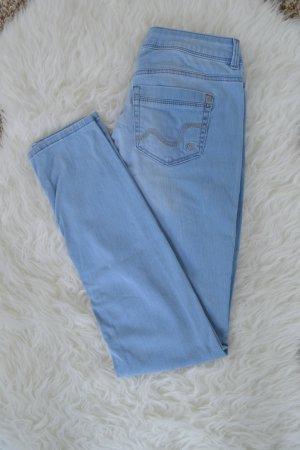 hellblaue Skinny Jeans wie neu