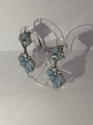 Statement Earrings silver-colored-light blue