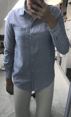 Hellblaue Streifen Bluse von Only