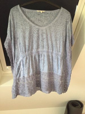 Review Camisa tipo túnica azul celeste