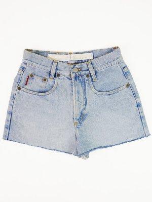 Hellblaue Vintage Cut Off Jeans mit hohem Bund