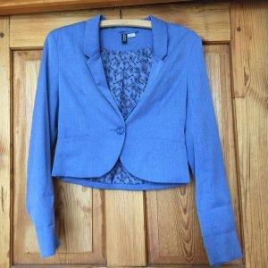 H&M Blazer corto azul claro