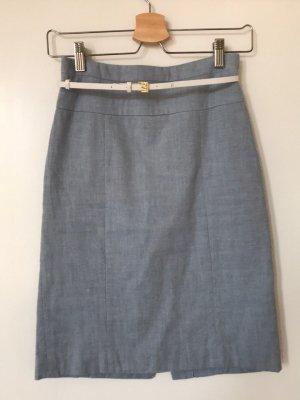 Hellblauer Bleistift Rock von H&M, 34/ XS, mit Gürtel, High Waist, Taillenhoch, wie neu