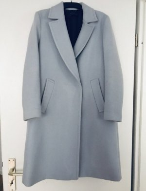 Zara Fake Fur Coat azure-light grey