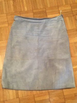 Street One Leather Skirt pale blue