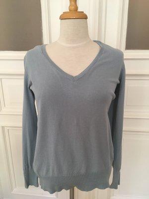 Basic V-Neck Sweater azure