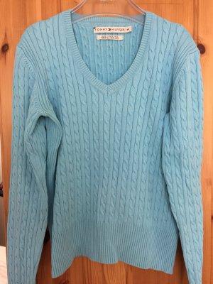 Hellblauer Pullover von Tommy Hilfiger in Größe S