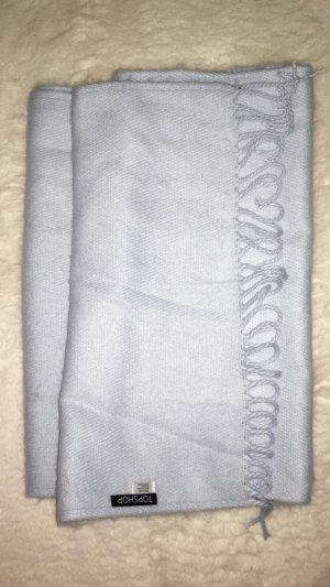 Topshop Bufanda de flecos azul pálido