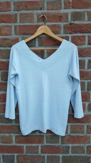 Hellblauer V-Ausschnitt Pullover