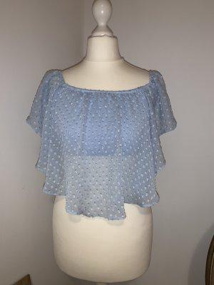 Bershka Camicia cropped azzurro