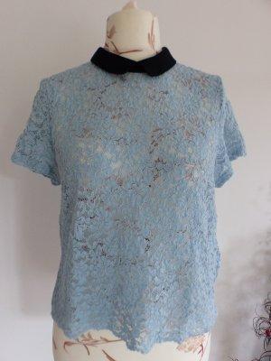 hellblaues Blusenshirt / Bluse mit  von Zara - Size XL