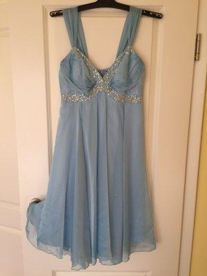 Apart Babydoll Dress baby blue-light blue
