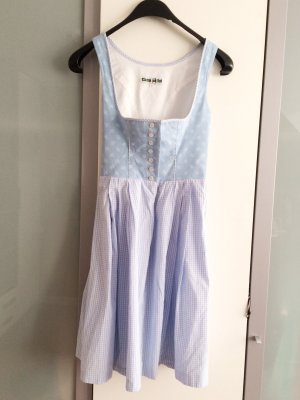 Traditional Apron baby blue cotton