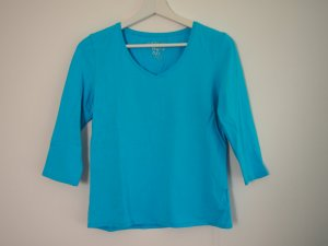 Authentic Longsleeve neon blue cotton