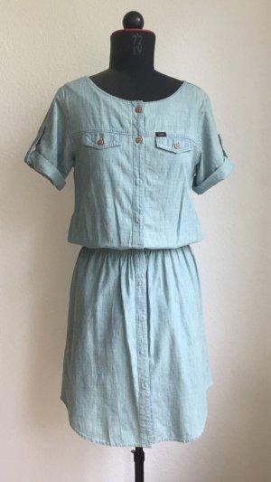 hellblaues Jeanskleid von Lee mit leichtem Tint, Größe 36