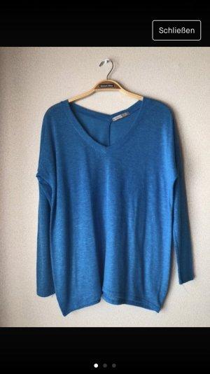 Primark V-hals shirt neon blauw