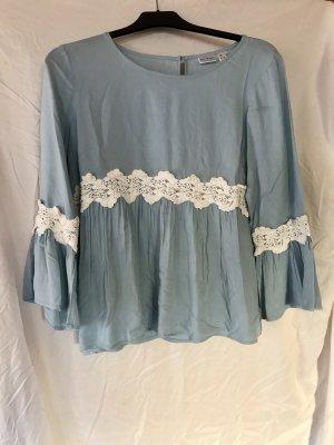 Bodyflirt Shirt Tunic white-azure