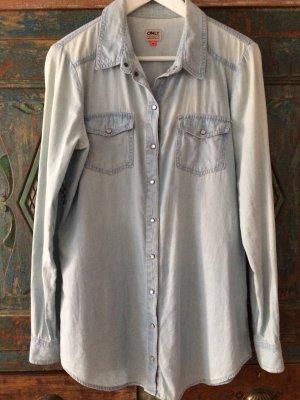 Hellblaues Shirt Oversize von Only, Größe 38