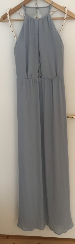 Hellblaues Spitzen-/Chiffon Kleid NEU