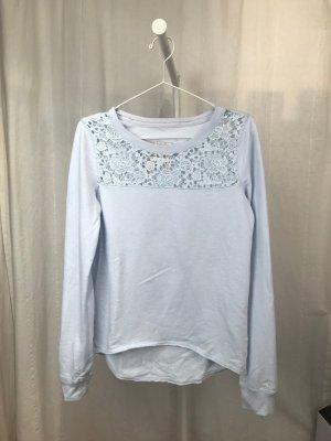 Hellblaues Sweatshirt mit Spitzendetail von Abercrombie&Fitch