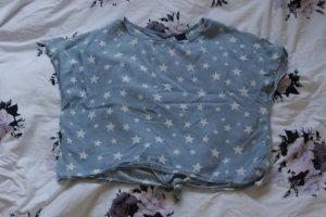 hellblaues T- Shirt mit Sternen von Livre