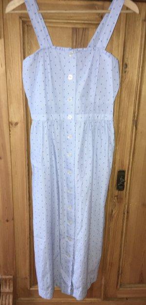 Hellblaues Trägerkleid von H&M, Gr.38, eng geschnitten aus Baumwolle